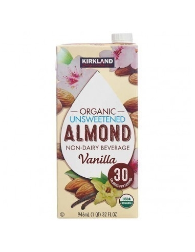 kirkland unsweetened almond milk