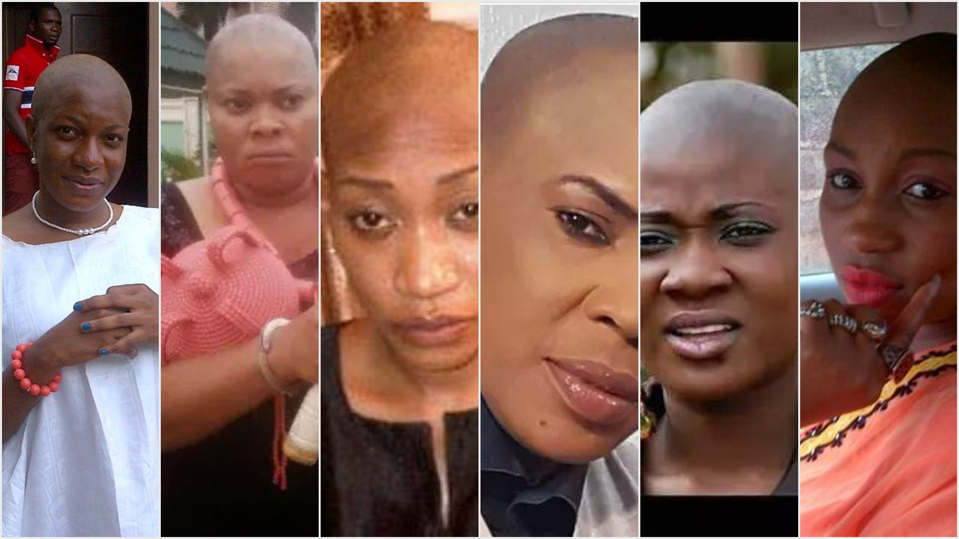 OMG: Meet 12 Nollywood Actresses Who Shocked Us By Going Bald For A Movie Role #3 Will Surprise You