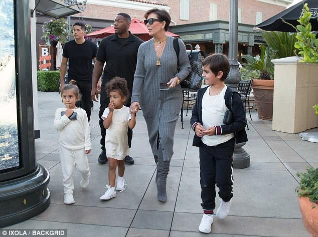Kris Jenner And Her Grand Kids Step Out For Frozen Yogurt Looking Like A Million Bucks