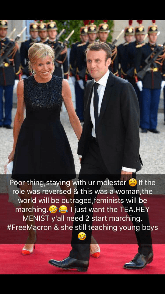 64-Year-Old Wife Of The 39-Year-Old French President, Macron, Brainwashed & Molested Him' – Dencia