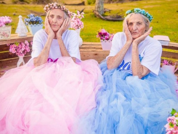 Wow: Meet Probably The Oldest Twins In The World As They Celebrate 100th Birthday Later In May + Photos