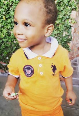 Uche Jumbo's Son Is Just Adorable
