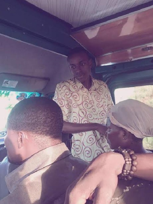 Yaw Siki Spotted In A Trotro Preaching The Word Of God