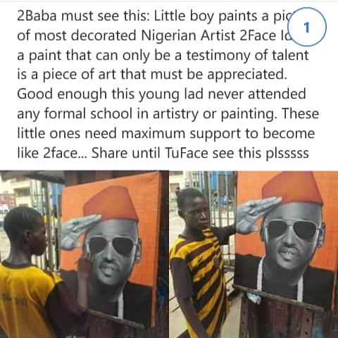 2Baba Searches For Boy Who Painted Him