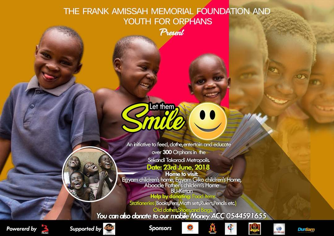 Let Them SMILE: Here's How Amissah Memorial Foundation Intends To Feed, Clothe Orphans In Takoradi & Beyond