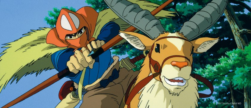 A photo from the animated film Princess Mononoke by Studio Ghibli