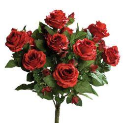 Buchet x15 trandafiri artificiali rosii