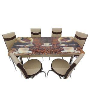 Set masa extensibila cu 6 scaune MERCAN