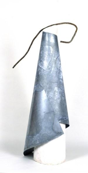 Sculpture, 1992-94, 163 x 90 x 60 cm, plâtre, tôle galvanisée, acier