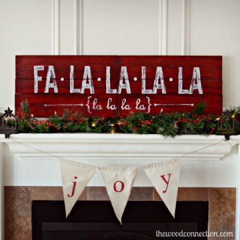 Celebrate your favorite Christmas carol by displaying the lyrics atop your mantle.  See more at The Wood Connection »