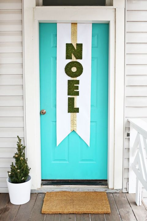 My favorite DIY Christmas Decor. DIY Christmas Decor Ideas. Dress up craft-store letters with faux moss for a message that's got meaning and texture. Get the tutorial at A Beautiful Mess »