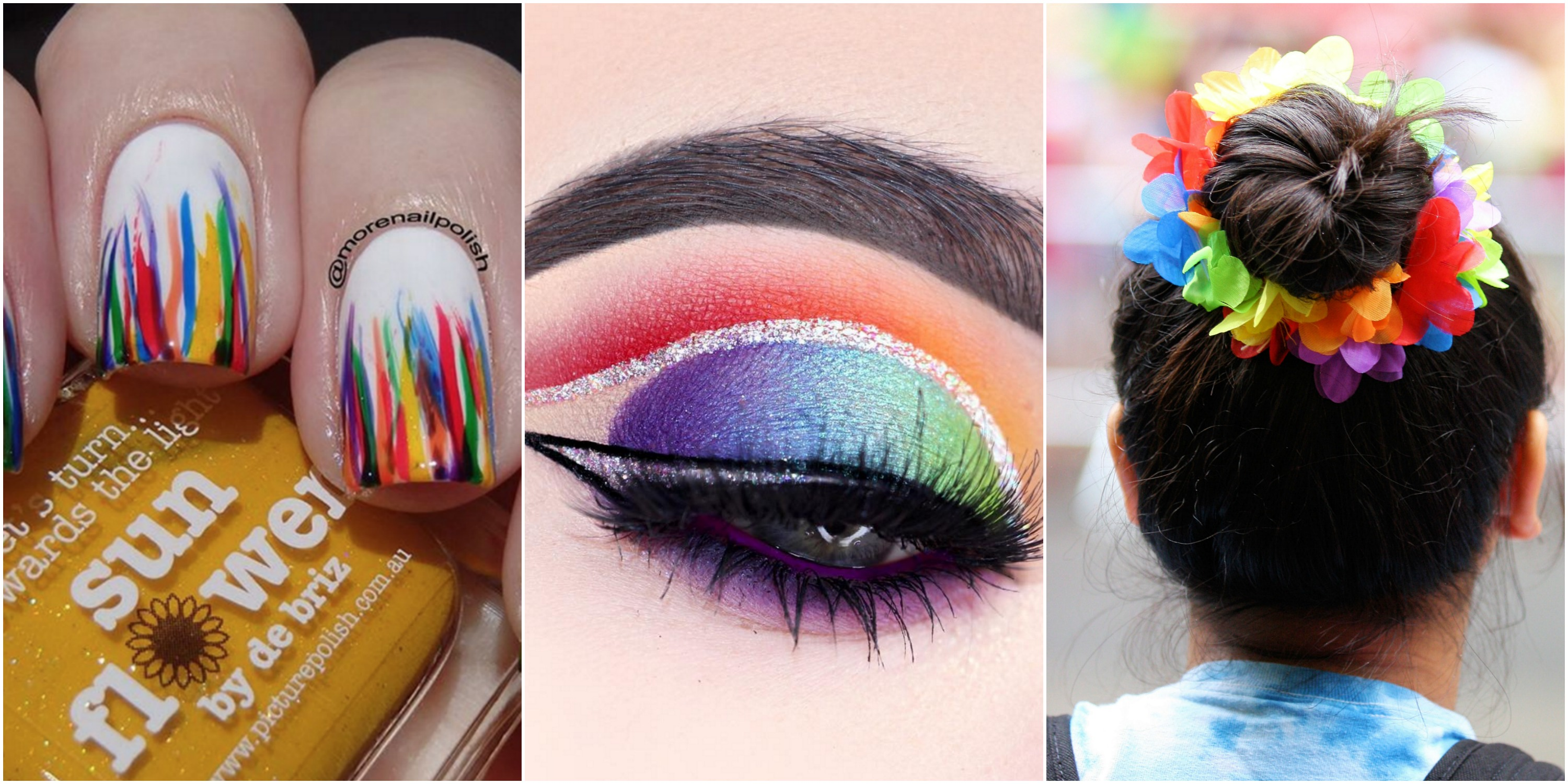 14 Rainbow Hair And Makeup Ideas To Show Support For LGBTQ