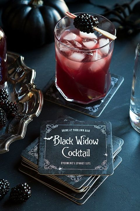 This dark and sweet cocktail may have a venomous bite. Drink it if you dare. Get the recipe from Evermine »
