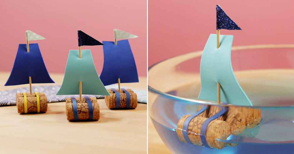 How To Make DIY Sailboats Out Of Wine Corks Kid Craft