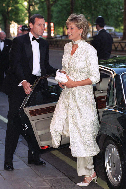 The Princess of Wales received her pearl-studded salwar kameez as a gift from expat friend Jemima Khan, InStyle reports. Di loved the outfit so much, she requested more Pakistani-inspired designs from Catherine Walker.