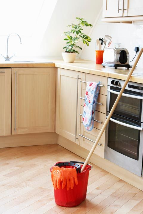 Chances are, you don't even notice the bread crumbs that end up on the floor after dinner. To prevent food particles from building up, put running a Swiffer ($23, amazon.com) over the ground on your weekly to-do list.