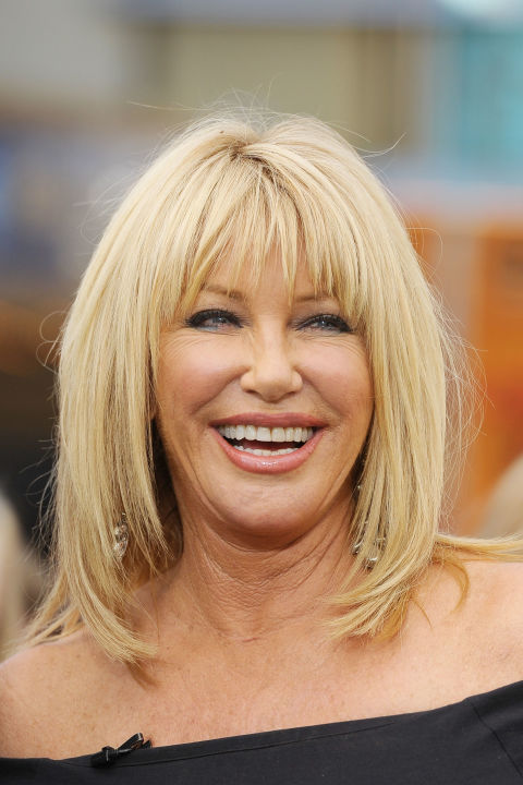 Try a long shag like Suzanne Somers for a sexy 'do. This style adds texture and volume to straight hair that could not be achieved if left long and heavy. Ask your stylist about adding bangs to your cut. Depending on your face shape, you may want shorter bangs or longer ones you can leave side swept.