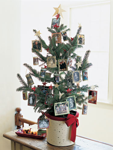Look back on the year's best moments with homemade photo ornaments. They'll cover a tabletop tree in no time; just print, mount and glue on ribbon. Get ready for the nostalgia. Get the tutorial » What you'll need: ribbon ($6, amazon.com)
