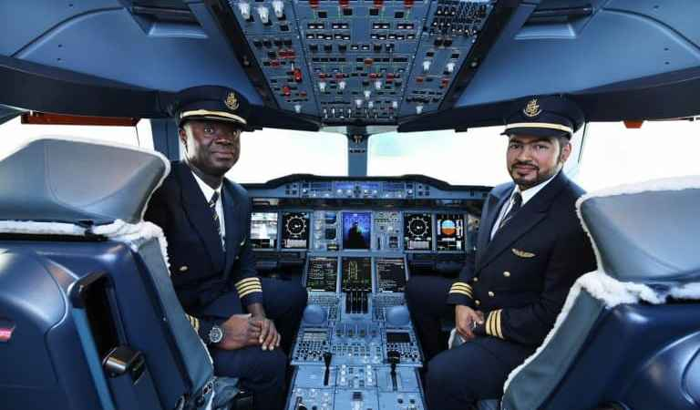 Emirates biggest plane arrives at KIA, piloted by a Ghanaian