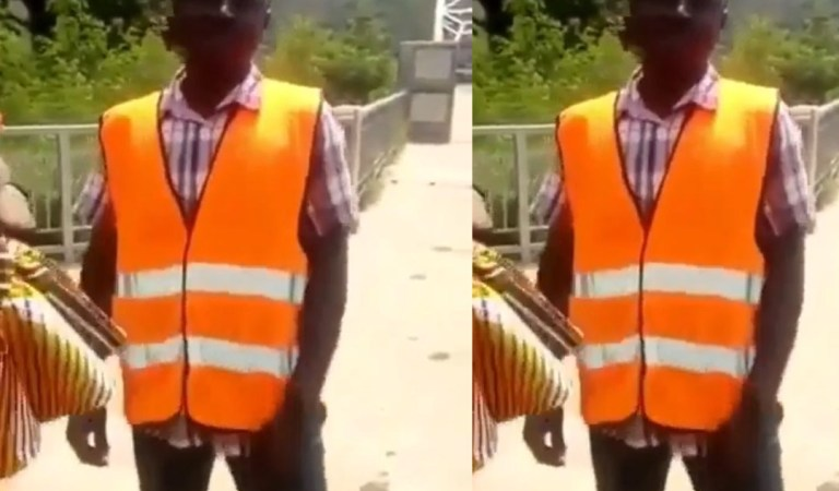Watch: Man who charges for taking pictures on Adomi Bridge busted