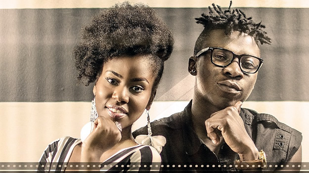 Photo: Mzvee comes back, seen with Stonebwoy in a studio