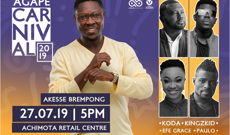 Akesse Brempong to assemble thousands at Achimota Retail Centre for Agape Carnival 2019