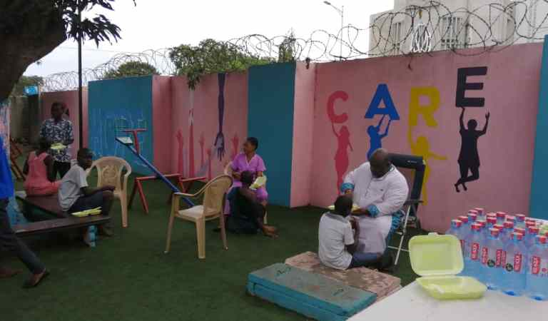 Little Angel's Trust builds recreational area for Accra Psychiatric Hospital