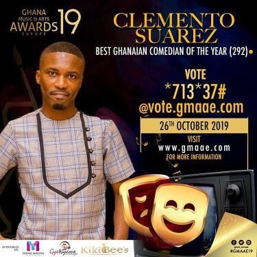 Clemento Suarez, Ghana Music and Arts Awards Europe, Best Ghanaian Comedian Of The Year