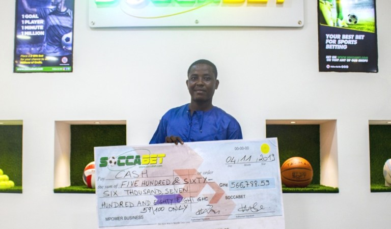 Punter wins over GHC500,000 at SOCCABET