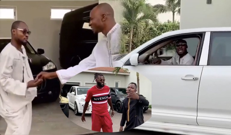 Watch: Funny Face gets new car again from Adebayor