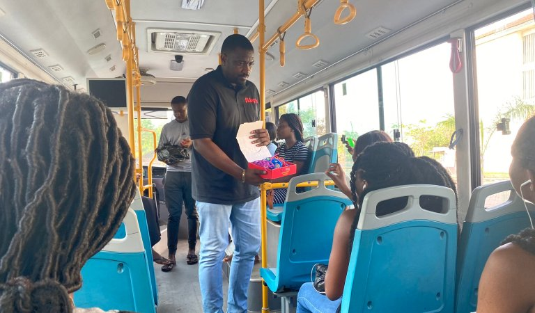 John Dumelo distribute hand sanitizers in Ayawaso West Constituency