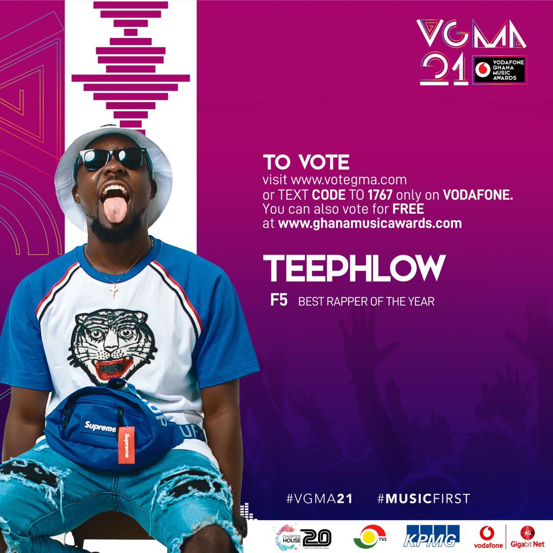 "Teephlow, VGMA, Best Rapper Of The Year"", Vodafone Ghana Music Awards"