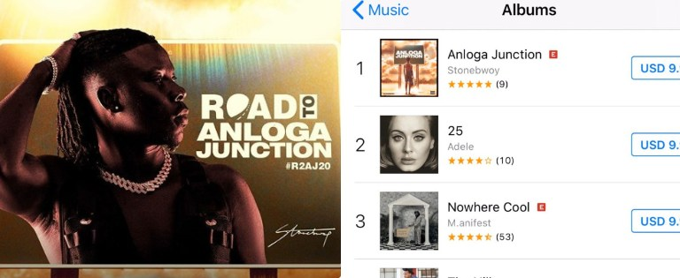 Stonebwoy's Anloga Junction Hits Top iTunes Chart