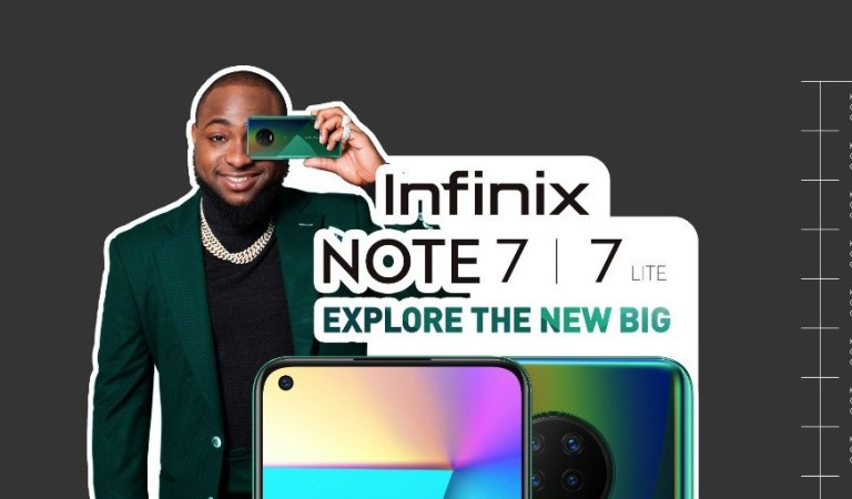 Davido Thanks Infinix For Producing Note 7 (Screenshot)