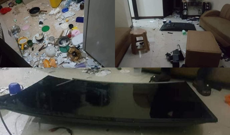 Photos: Lady Scatters Guys Room After She Found Him Cheating