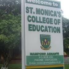 St. Monica's College of Education Entry Requirements