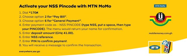 MTN Mobile Money Payment for NSS Pin Code