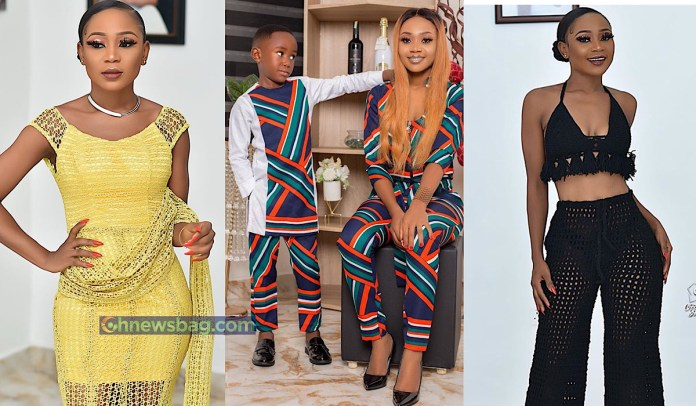 Akuapem Poloo and her son ghnewsbag