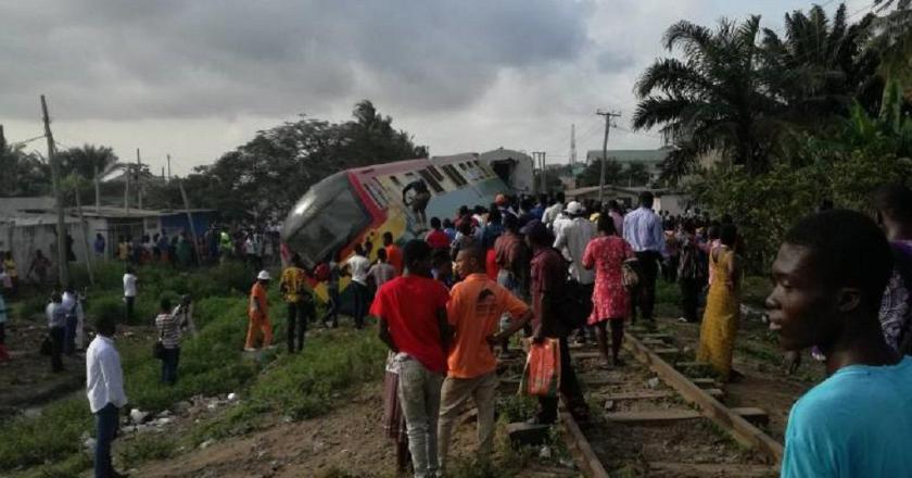 Train crush into fuel tanker at Takoradi….no casualty recorded