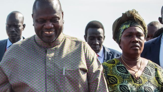 South Sudan's VP Riek Machar, wife contract COVID-19
