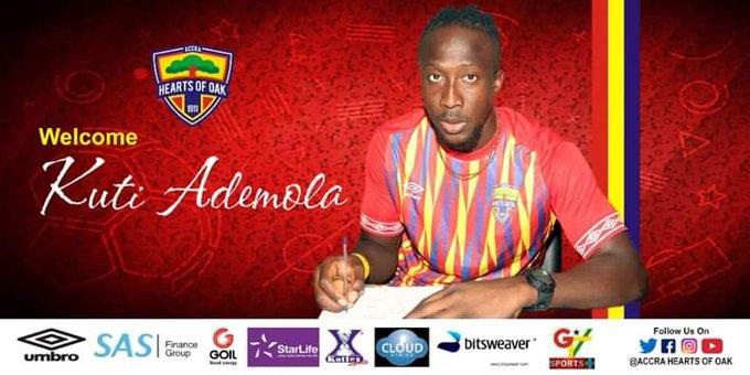 Hearts announce the acquisition of Nigerian striker Kuti Ademola