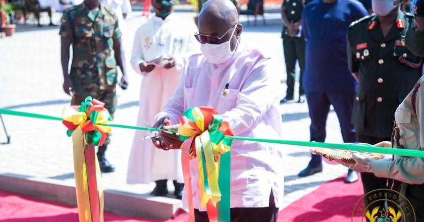 President AKufo-Addo commissions housing apartments for military.
