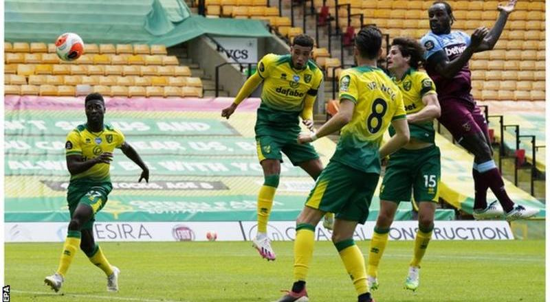 Norwich relegated as Antonio score four for Westham