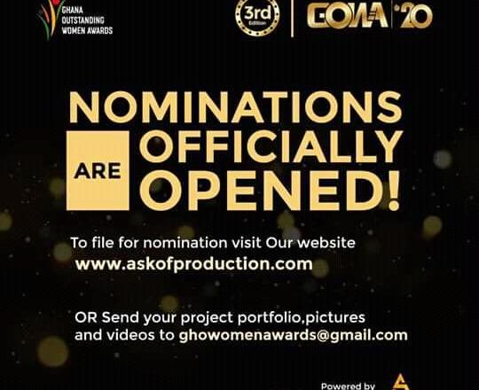Nominations for 2020 Ghana Outstanding Women Awards officially opens
