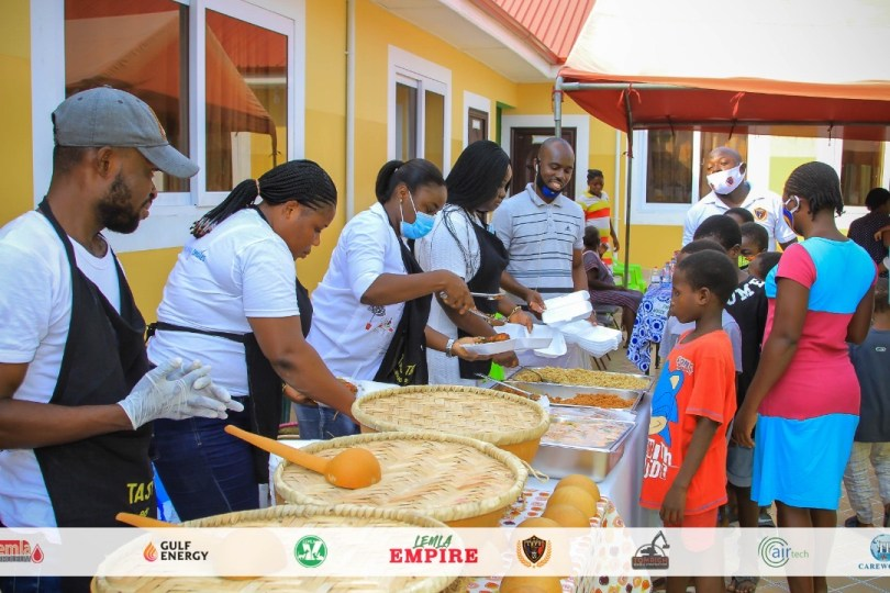 Board Chairman of Legon Cities FC donate to two orphanages in Accra