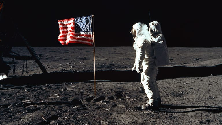 July 20, 1969, Neil Armstrong walks on moon