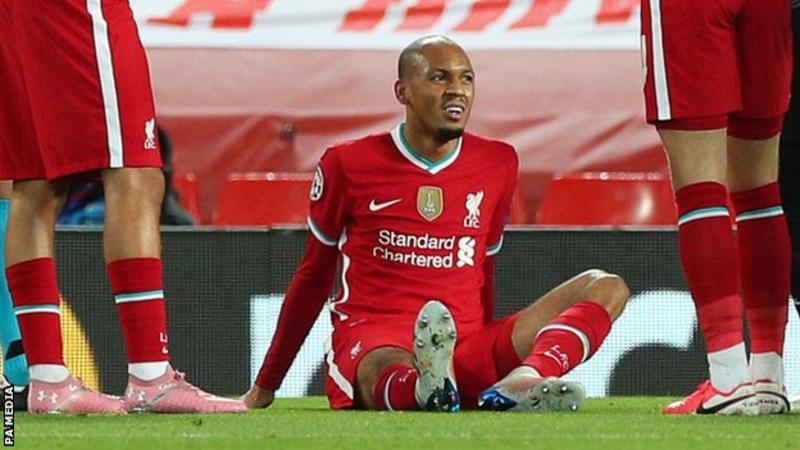 Jurgen Klopp: Liverpool boss says Fabinho's injury is a 'shock for the team'