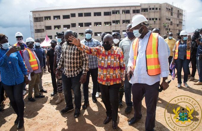 President Akufo-Addo Inspects Construction Work On New Abomoso Model SHS
