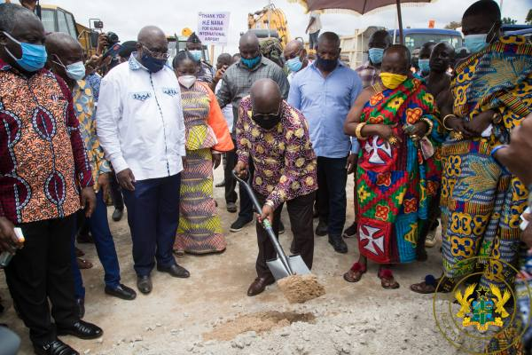 President Akufo-Addo Cuts Sod For Construction Of Kumasi-Obuasi Railway Line
