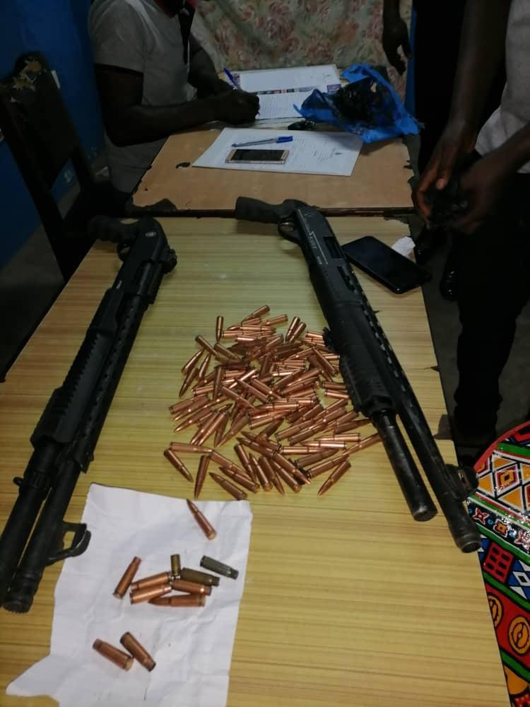 Police retrieves two weapons, ammunitions in robbery
